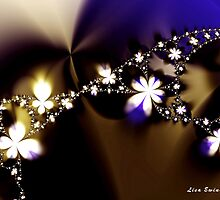 Floral Fractal Chain by LisaEwingArt