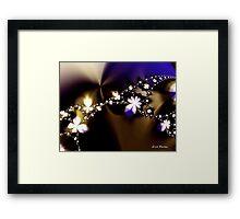 Floral Fractal Chain Framed Print