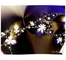 Floral Fractal Chain Poster
