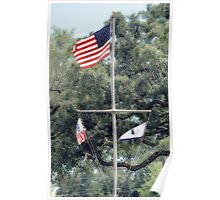 Naval Base Flags Poster