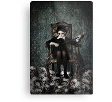 Queen of Skulls Metal Print