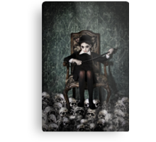 Queen of Skulls Metal Print