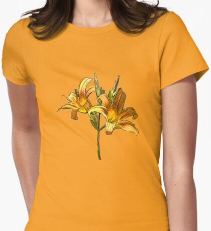 Daylily Womens Fitted T-Shirt