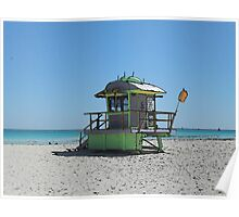 South Beach Lifeguard Stand Poster