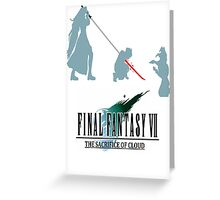 Final Fantasy VII The Sacrifice Of Cloud Greeting Card
