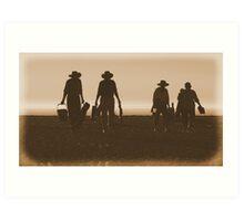 #534   Retro Beach Picnic Art Print