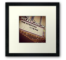 Nickelodeon Framed Print