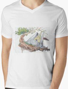 Re Construction Mens V-Neck T-Shirt