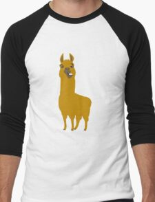 Llama is cool Men's Baseball ¾ T-Shirt