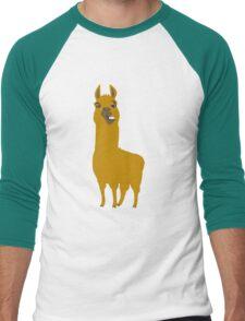 Llama is cool Men's Baseball ¾ T-Shirt