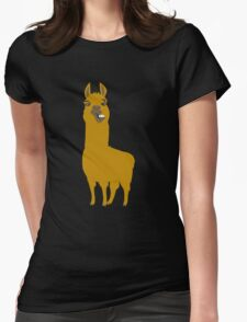 Llama is cool Womens Fitted T-Shirt