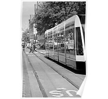 Tram reflections Poster