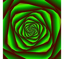 Green Spiral Photographic Print