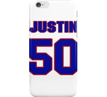National football player Justin Rogers jersey 50 iPhone Case/Skin