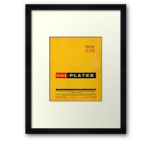 Vintage Kodak Plates Framed Print