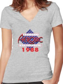 1988 National Aerobic Championship Women's Fitted V-Neck T-Shirt