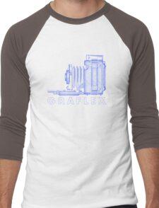 Vintage Photography - Graflex (Version 2) - Blue Men's Baseball ¾ T-Shirt