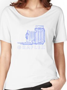 Vintage Photography - Graflex (Version 2) - Blue Women's Relaxed Fit T-Shirt