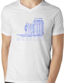 Vintage Photography - Graflex (Version 2) - Blue Mens V-Neck T-Shirt