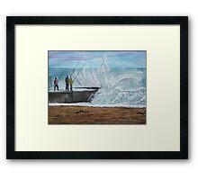Fishing, Collaroy Beach, Australia, Seascape Framed Print