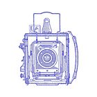 Vintage Photography - Graflex - Blue by brainsontoast