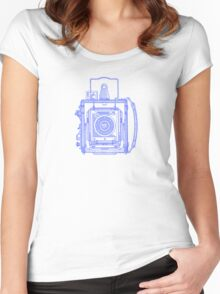 Vintage Photography - Graflex - Blue Women's Fitted Scoop T-Shirt