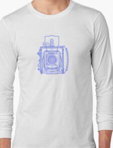Vintage Photography - Graflex - Blue Long Sleeve T-Shirt