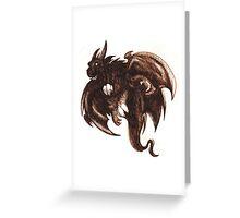 dragon of the dark Greeting Card