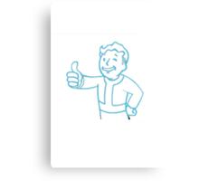 Fallout - Blue Vault Boy Canvas Print