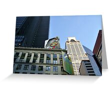 Gold Lips on Broadway Greeting Card