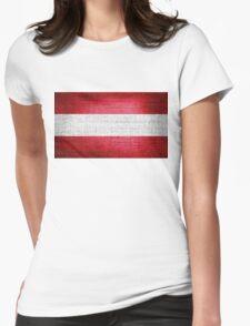Austria Flag Womens Fitted T-Shirt