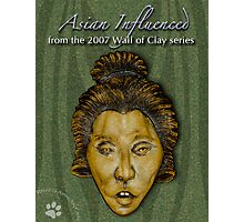 """WALL of CLAY: """"Asian Influenced"""" Photographic Print"""
