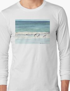 Beach, Birds and Stillness Long Sleeve T-Shirt