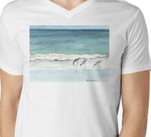 Beach, Birds and Stillness Mens V-Neck T-Shirt