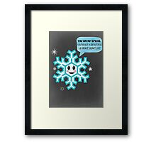 Special Snowflake Framed Print