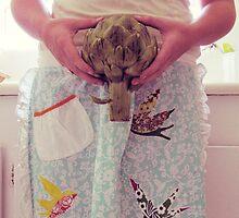 artichoke holding. by Shannon Miller