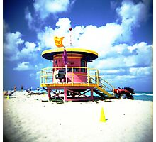 Lifeguard Hut Photographic Print