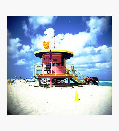 Lifeguard Hut Photographic Print