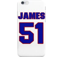 National football player James Farrior jersey 51 iPhone Case/Skin
