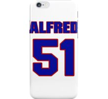 National football player Alfred Fincher jersey 51 iPhone Case/Skin