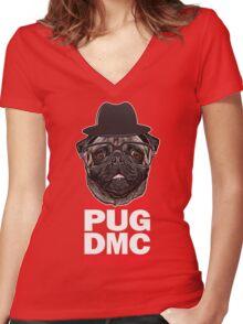 PUG DMC Women's Fitted V-Neck T-Shirt