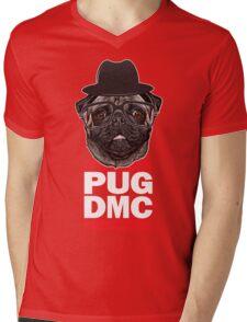 PUG DMC Mens V-Neck T-Shirt