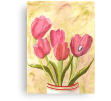 Christmas Tulips Canvas Print