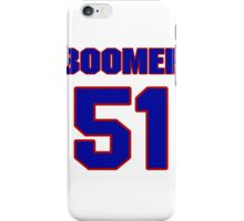 National football player Boomer Grigsby jersey 51 iPhone Case/Skin