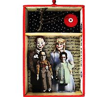 Family Is What You Make It - mixed media collage assemblage art by LindaAppleArt