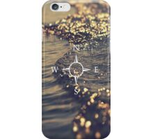Compass on a golden sea iPhone Case/Skin