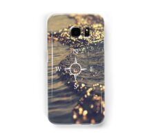 Compass on a golden sea Samsung Galaxy Case/Skin
