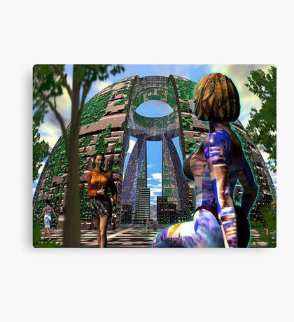 Alien Hive City - 3D art Canvas Print