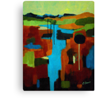 Lollipop Tree River Canvas Print