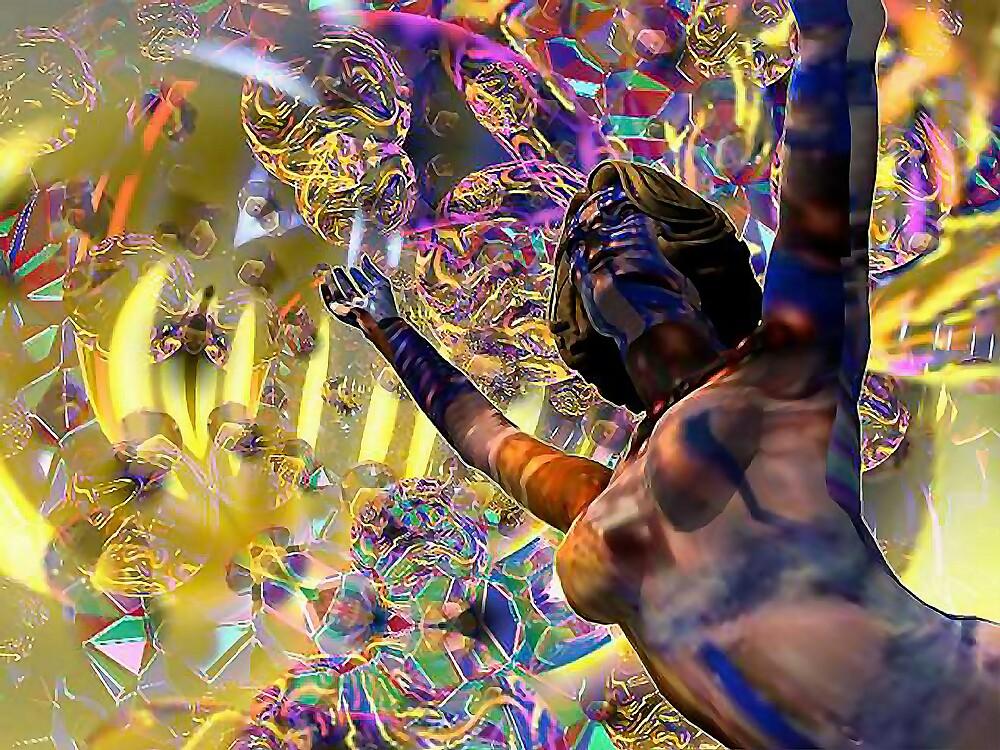 Journey Through the Vortex - 3D art by Dave Martsolf